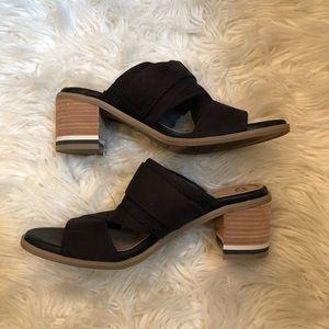 Dr. Scholl's Spellbound Slide Block Heels 8M Brown